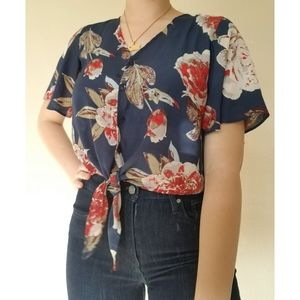 One ❤ Clothing floral blouse